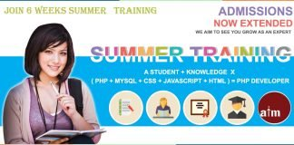 Summer training in Jammu Kashmir